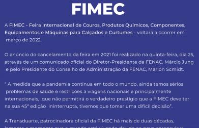 FIMEC será em março de 2022